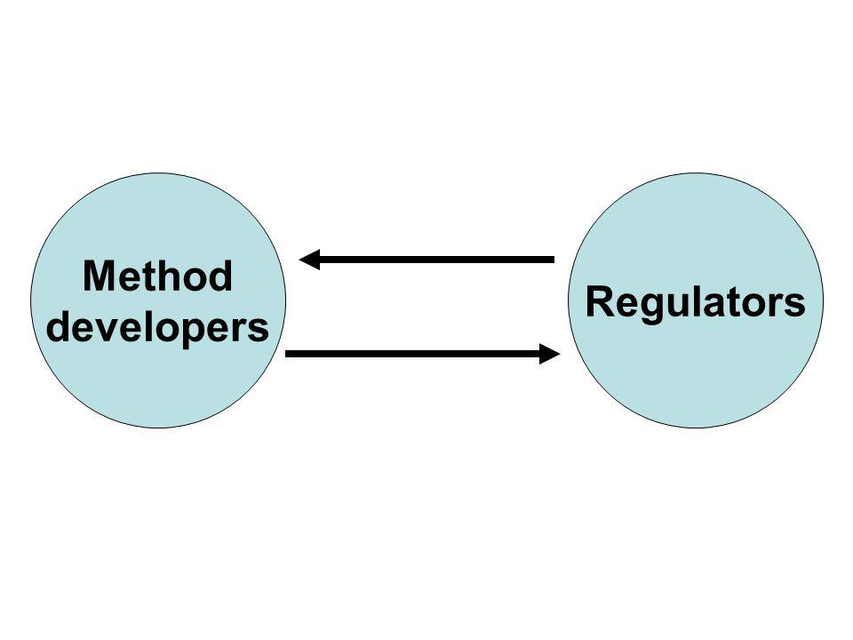 Method developers Regulators
