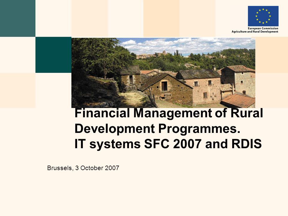 Financial Management of Rural Development Programmes.