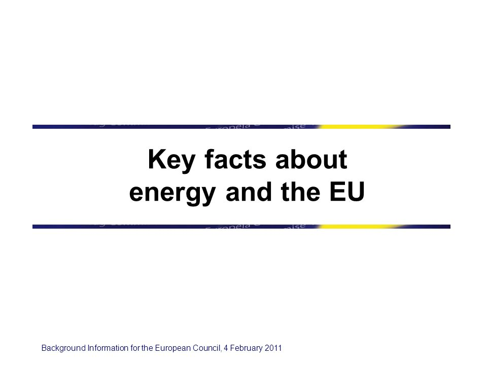 Background Information for the European Council, 4 February Contents 1.
