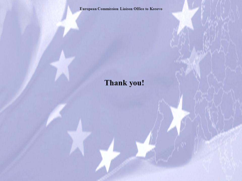 Thank you! European Commission Liaison Office to Kosovo