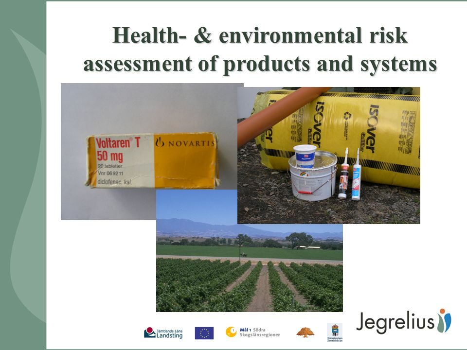 Health- & environmental risk assessment of products and systems