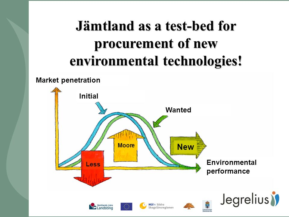 Jämtland as a test-bed for procurement of new environmental technologies.