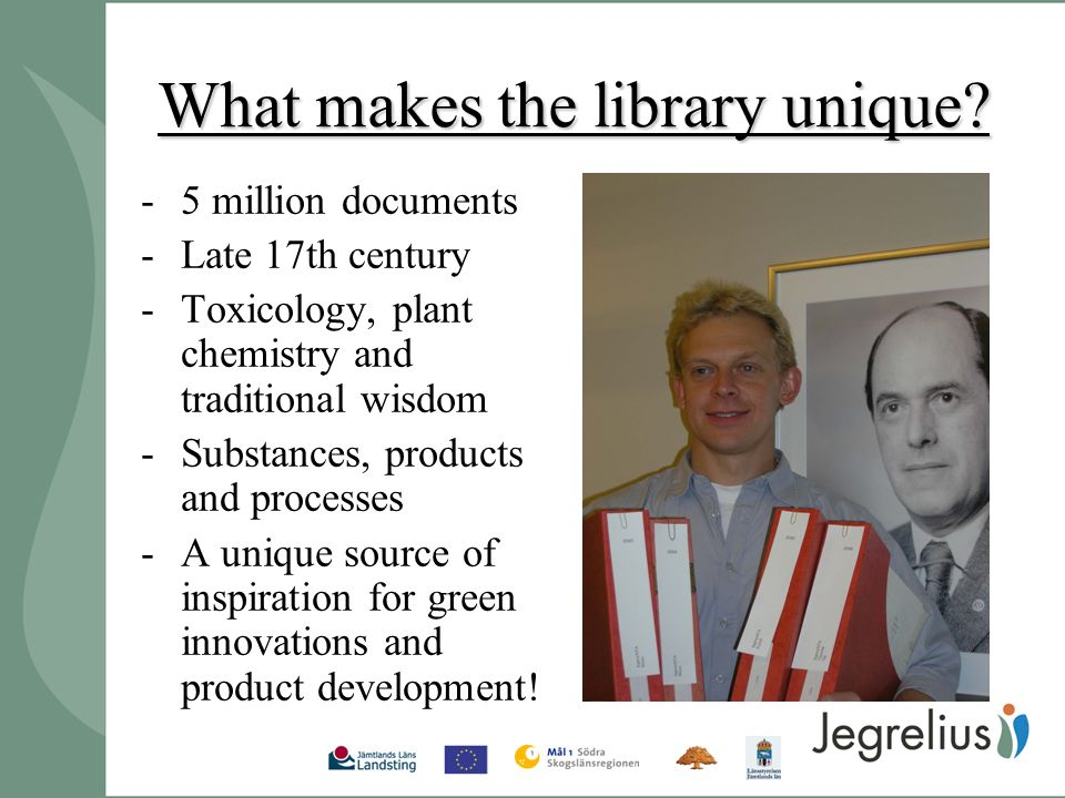 What makes the library unique.