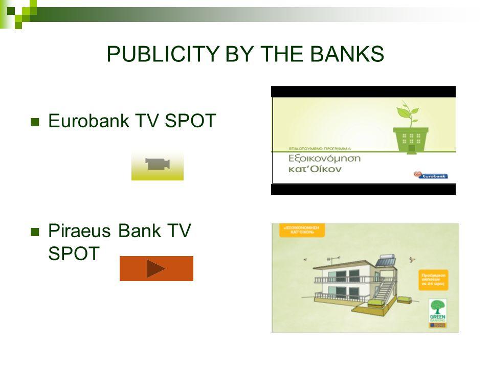 PUBLICITY BY THE BANKS Eurobank TV SPOT Piraeus Bank TV SPOT