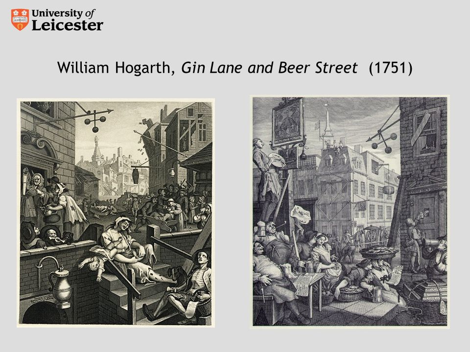 William Hogarth, Gin Lane and Beer Street (1751)