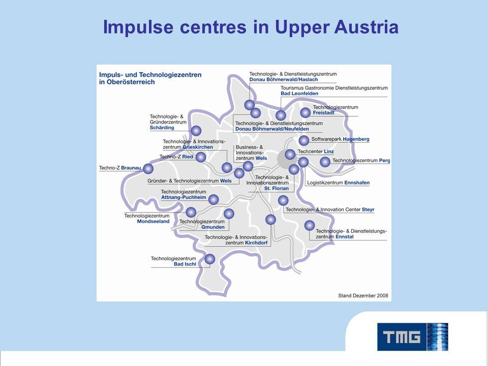 Impulse centres in Upper Austria