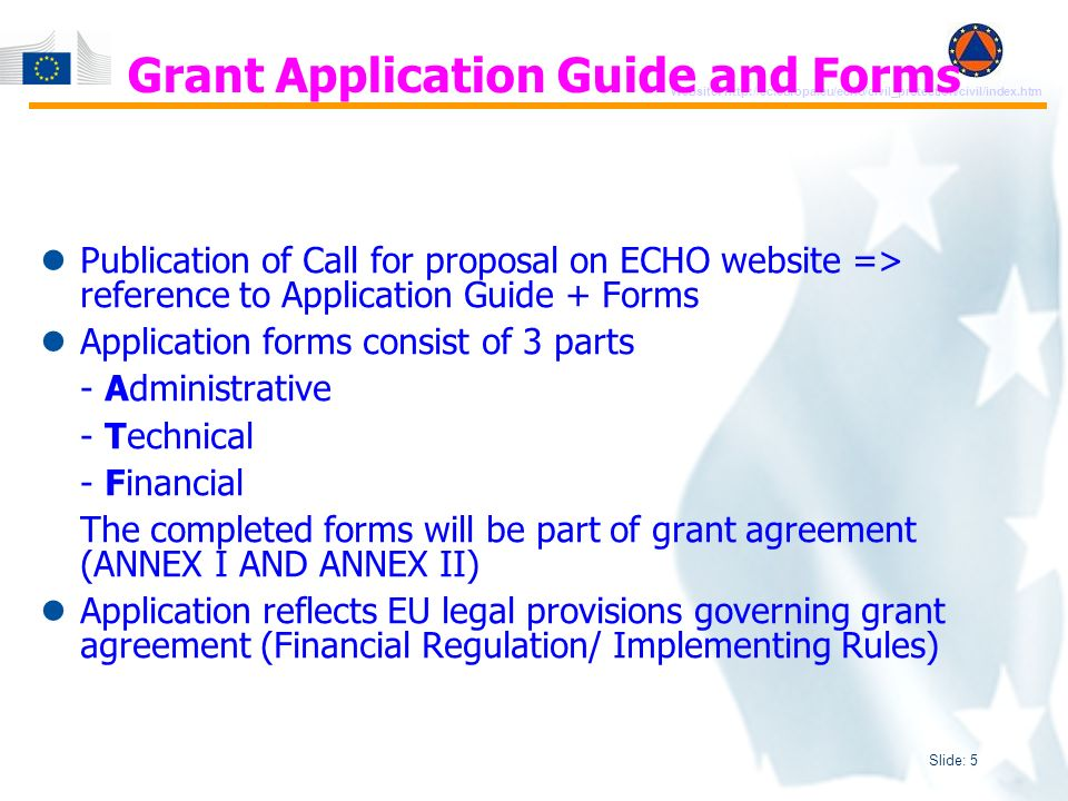 Slide: 6 Website: http://ec.europa.eu/echo/civil_protection/civil/index.htm Who can participate.