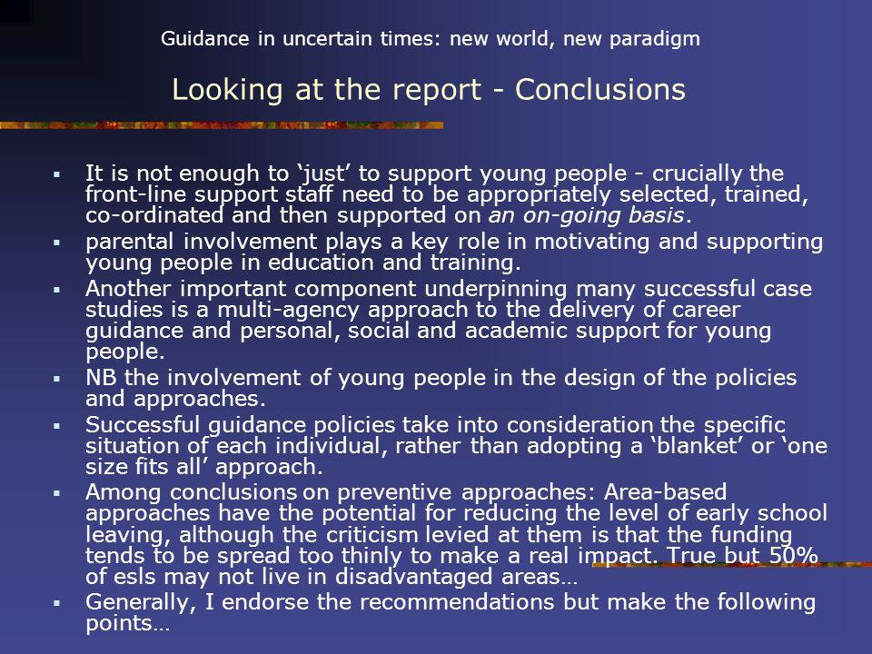 Guidance in uncertain times: new world, new paradigm Websites www.youthreach.ie www.youthreach.ie/webwheel