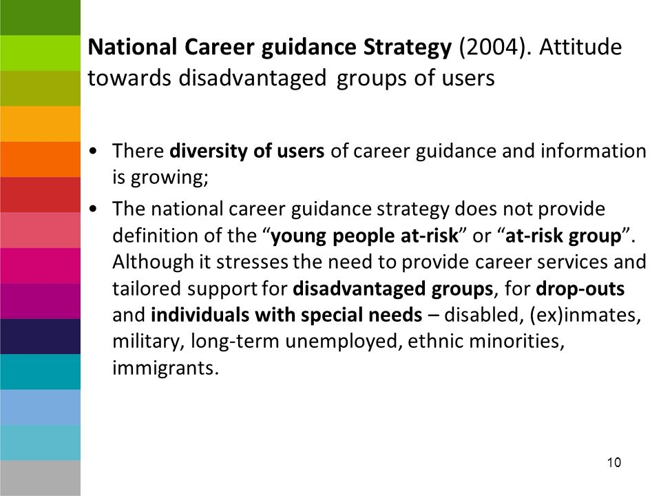 10 National Career guidance Strategy (2004).
