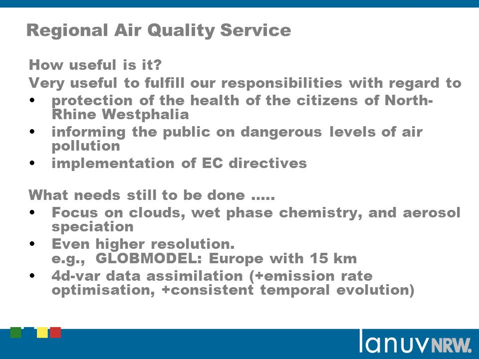 Regional Air Quality Service How useful is it.