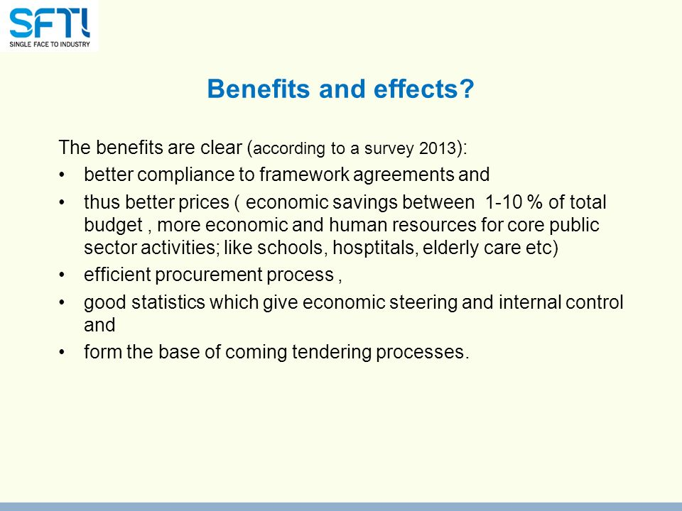 Benefits and effects.