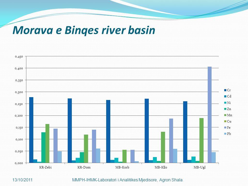 Morava e Binqes river basin 13/10/2011MMPH-IHMK-Laboratori i Analitikes Mjedisore, Agron Shala