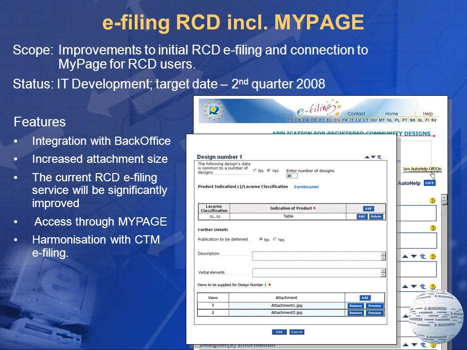 7 e-filing RCD incl.