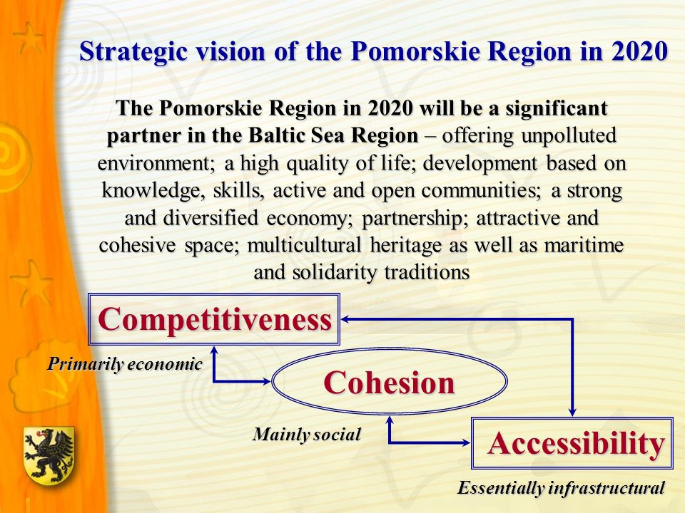 The Pomorskie Region in 2020 will be a significant partner in the Baltic Sea Region – offering unpolluted environment; a high quality of life; develop