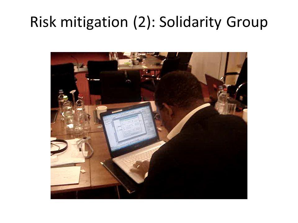 Risk mitigation (1): Contract rural entrepreneur