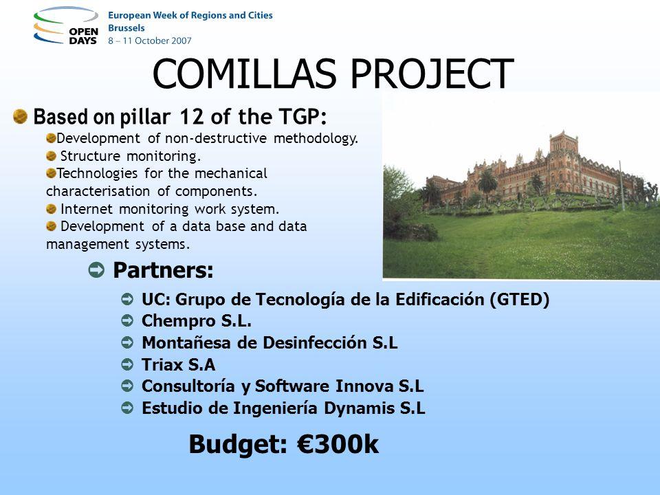 COMILLAS PROJECT Partners: UC: Grupo de Tecnología de la Edificación (GTED) Chempro S.L.