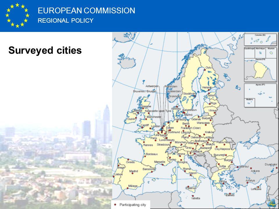 REGIONAL POLICY EUROPEAN COMMISSION http://ec.europa.eu Surveyed cities