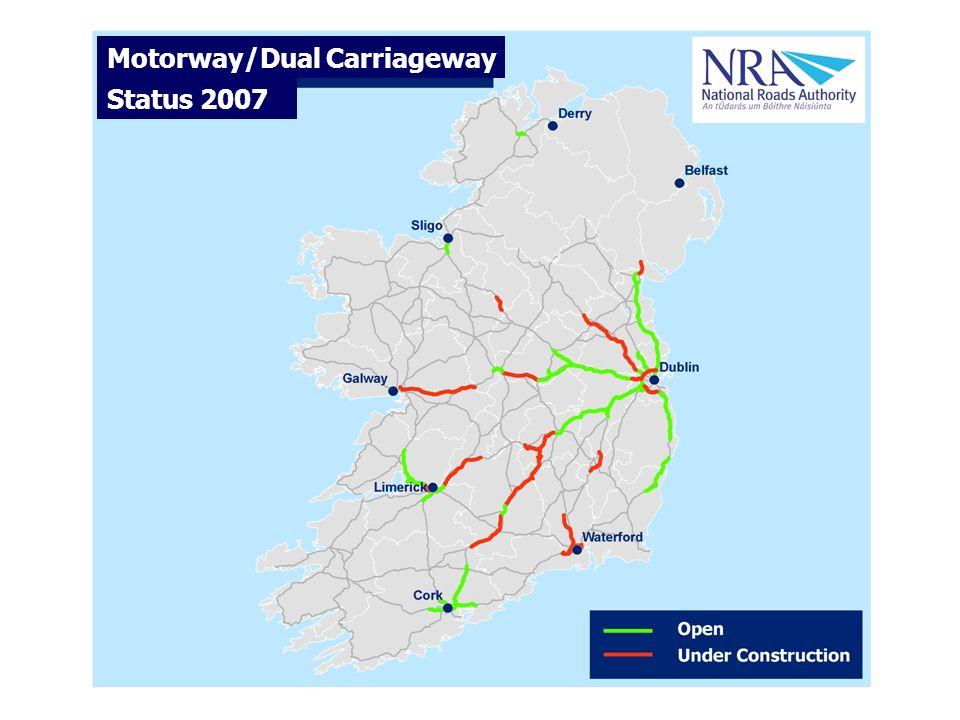 Motorway/Dual Carriageway Status 2000 Motorway/Dual Carriageway Status 2007