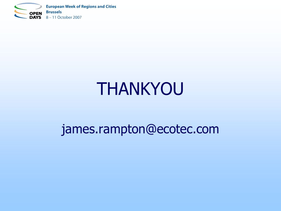 THANKYOU james.rampton@ecotec.com