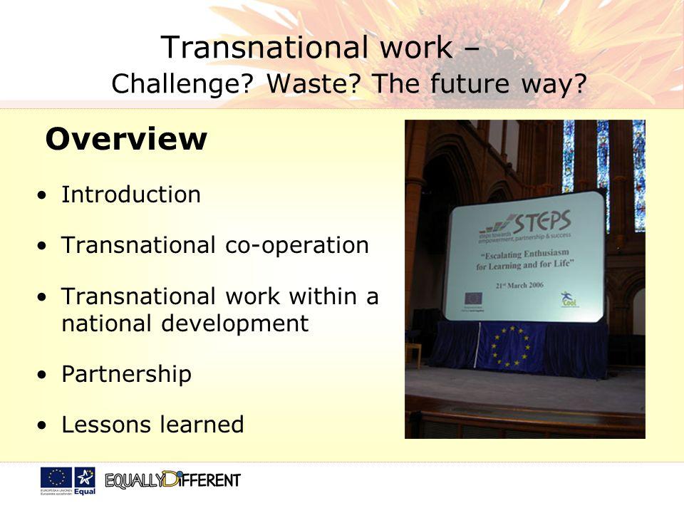 Transnational work – Challenge. Waste. The future way.