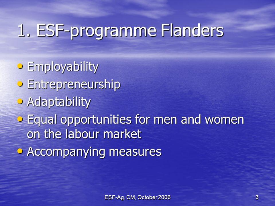 ESF-Ag, CM, October 20063 1.