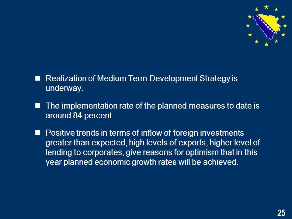 25 Realization of Medium Term Development Strategy is underway.