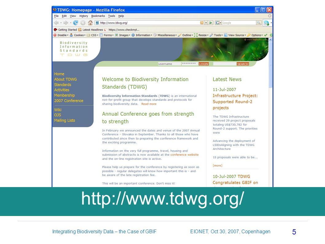 5 http://www.tdwg.org/