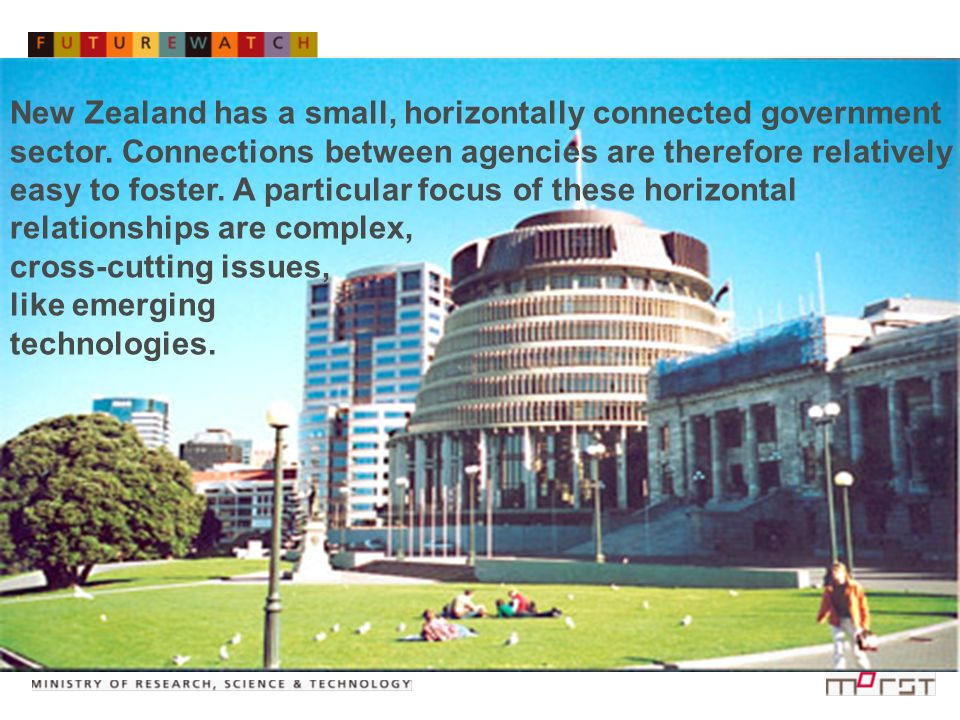 Royal Commission on Genetic Modification New Zealand has a small, horizontally connected government sector. Connections between agencies are therefore