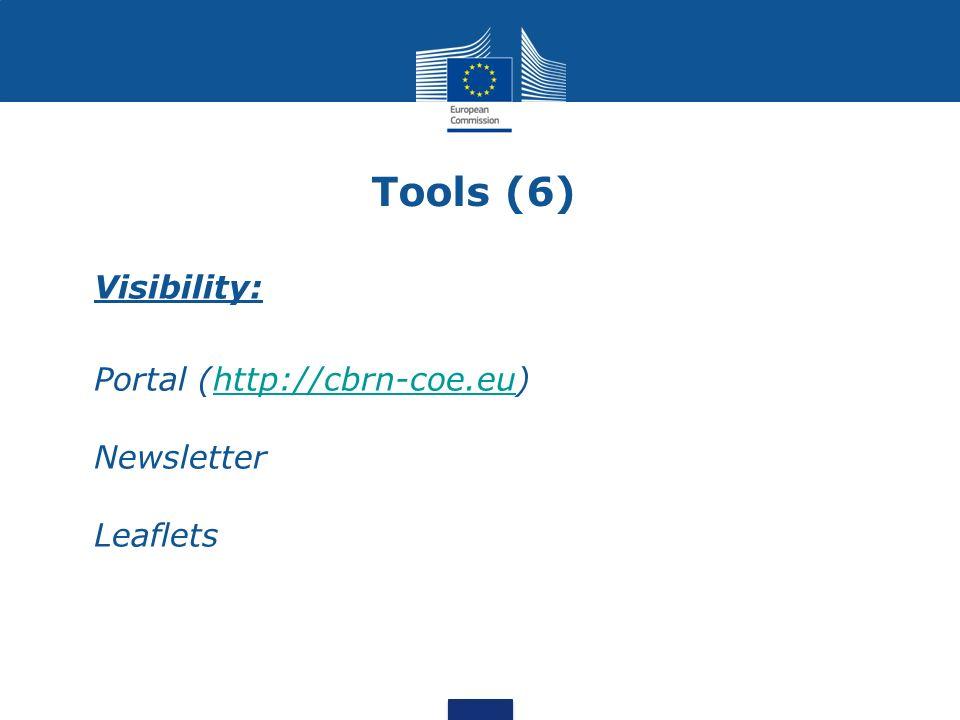 Tools (6) Visibility: Portal (http://cbrn-coe.eu)http://cbrn-coe.eu Newsletter Leaflets
