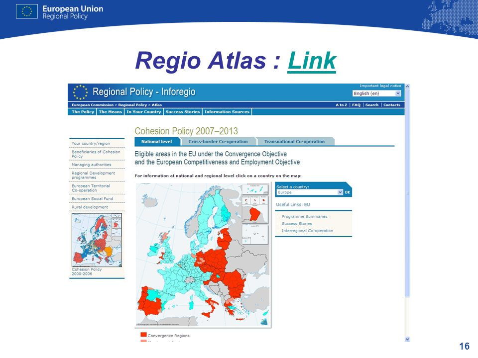 16 Regio Atlas : LinkLink