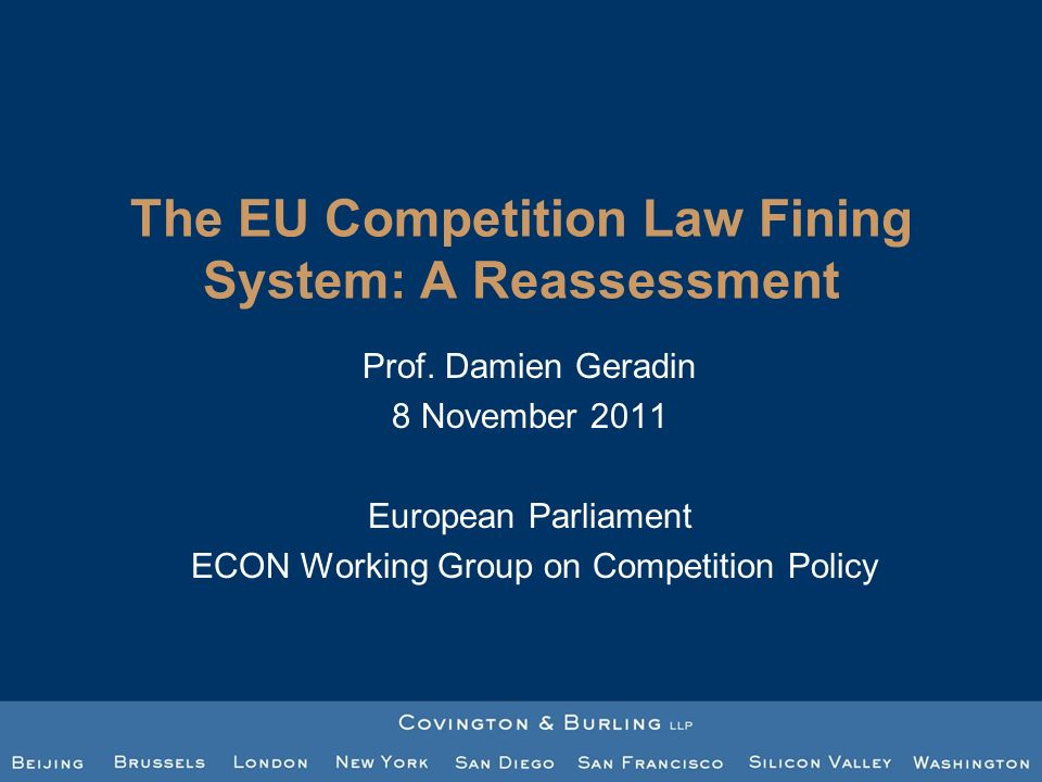 The EU antitrust fining systems insufficient predictability In the 2006 Fining Guidelines (para 37) Because of the EU substantive rules (not true for infringement by object, but for infringement by effects) Due to the decentralisation of EU Competition law enforcement Given the lack of transparency surrounding fine reductions granted in case of inability to pay or other financial constraints 12 The study makes several proposals to address this problem of uncertainty UNCERTAINTY IN THE EU ANTITRUST FINING SYSTEM STUDY 5
