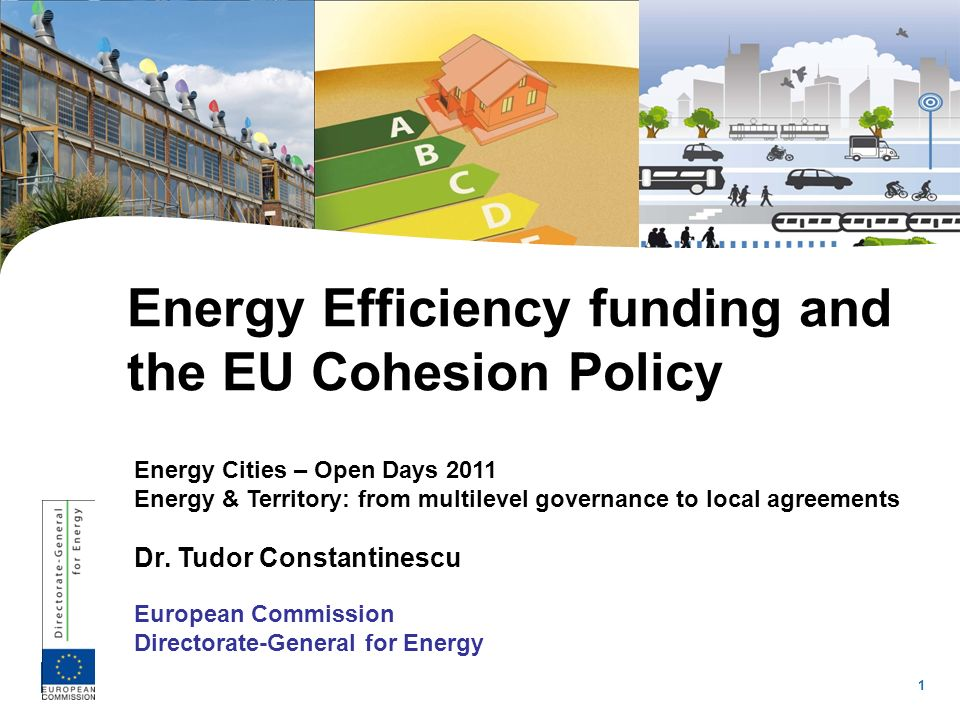1 Energy Cities – Open Days 2011 Energy & Territory: from multilevel governance to local agreements Dr. Tudor Constantinescu European Commission Direc