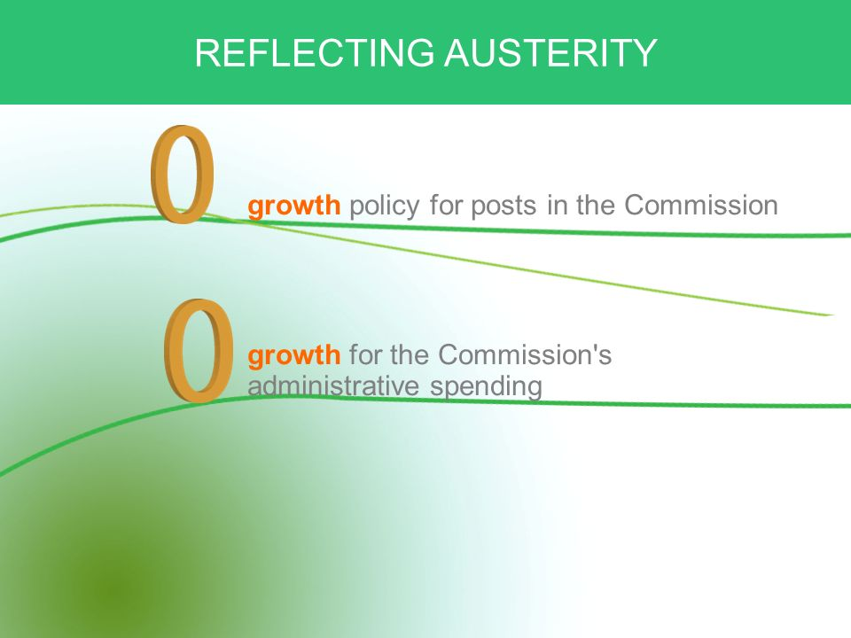 REFLECTING AUSTERITY growth policy for posts in the Commission growth for the Commission s administrative spending