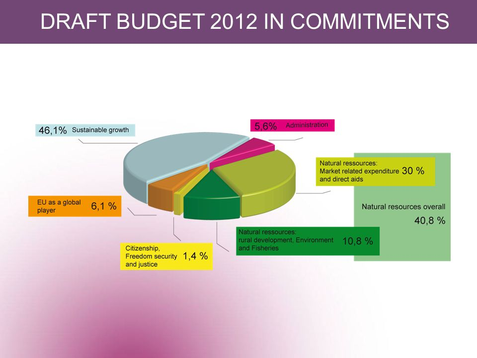 DRAFT BUDGET 2012 IN COMMITMENTS
