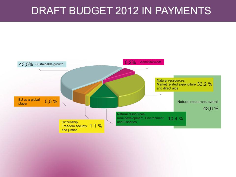 DRAFT BUDGET 2012 IN PAYMENTS