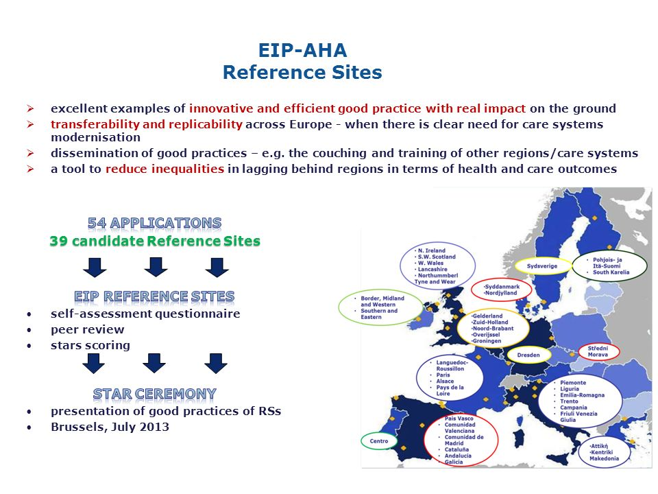 excellent examples of innovative and efficient good practice with real impact on the ground transferability and replicability across Europe - when there is clear need for care systems modernisation dissemination of good practices – e.g.