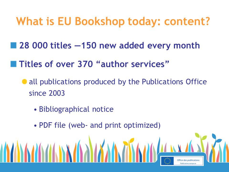 What will EU Bookshop be in the future.