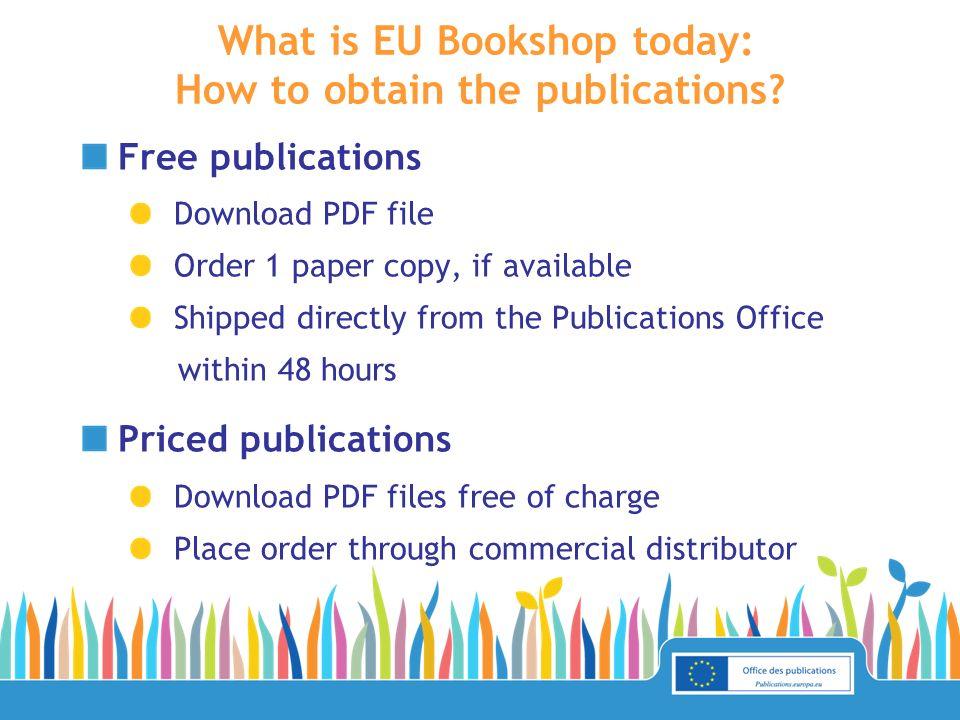What is EU Bookshop today: figures.