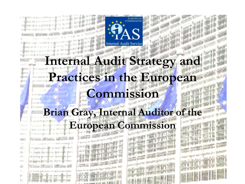 Internal Audit Strategy and Practices in the European Commission Brian Gray, Internal Auditor of the European Commission