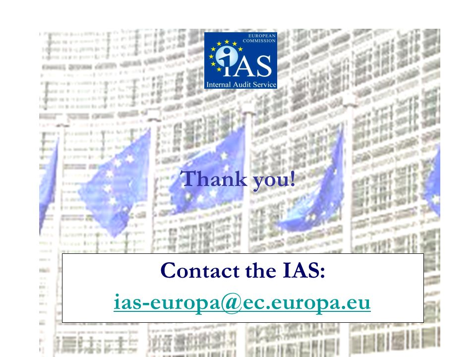 Contact the IAS:  Thank you!