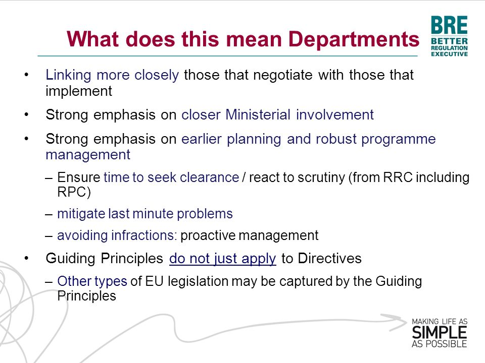 What does this mean Departments Linking more closely those that negotiate with those that implement Strong emphasis on closer Ministerial involvement