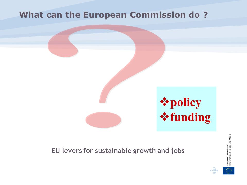 What can the European Commission do policy funding EU levers for sustainable growth and jobs