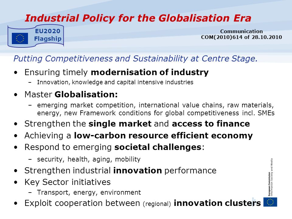 Industrial Policy for the Globalisation Era Putting Competitiveness and Sustainability at Centre Stage.