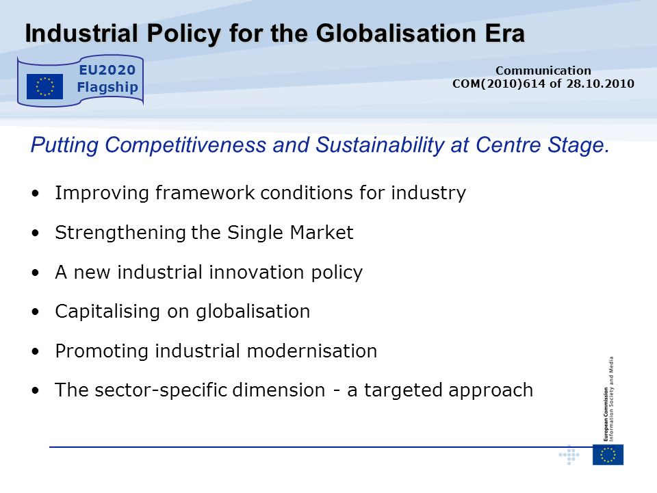 Industrial Policy for the Globalisation Era Industrial Policy for the Globalisation Era Putting Competitiveness and Sustainability at Centre Stage. Im