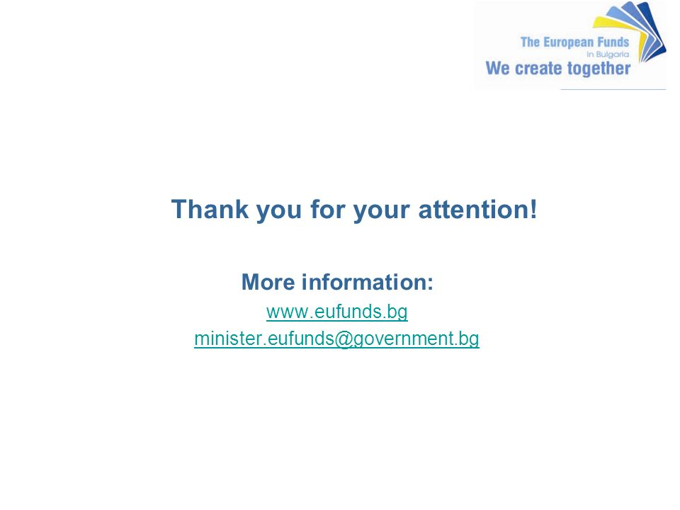 Thank you for your attention! More information: