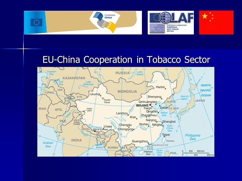 EU-China Cooperation in Tobacco Sector Taxes and duties levied on cigarettes are key source of public revenue in both EU and in China Taxes and duties levied on cigarettes are key source of public revenue in both EU and in China Cigarette smuggling and trade in counterfeit cigarettes are a problem both EU and China share Cigarette smuggling and trade in counterfeit cigarettes are a problem both EU and China share Illegal trade in cigarettes is linked to international organised crime organisations Illegal trade in cigarettes is linked to international organised crime organisations