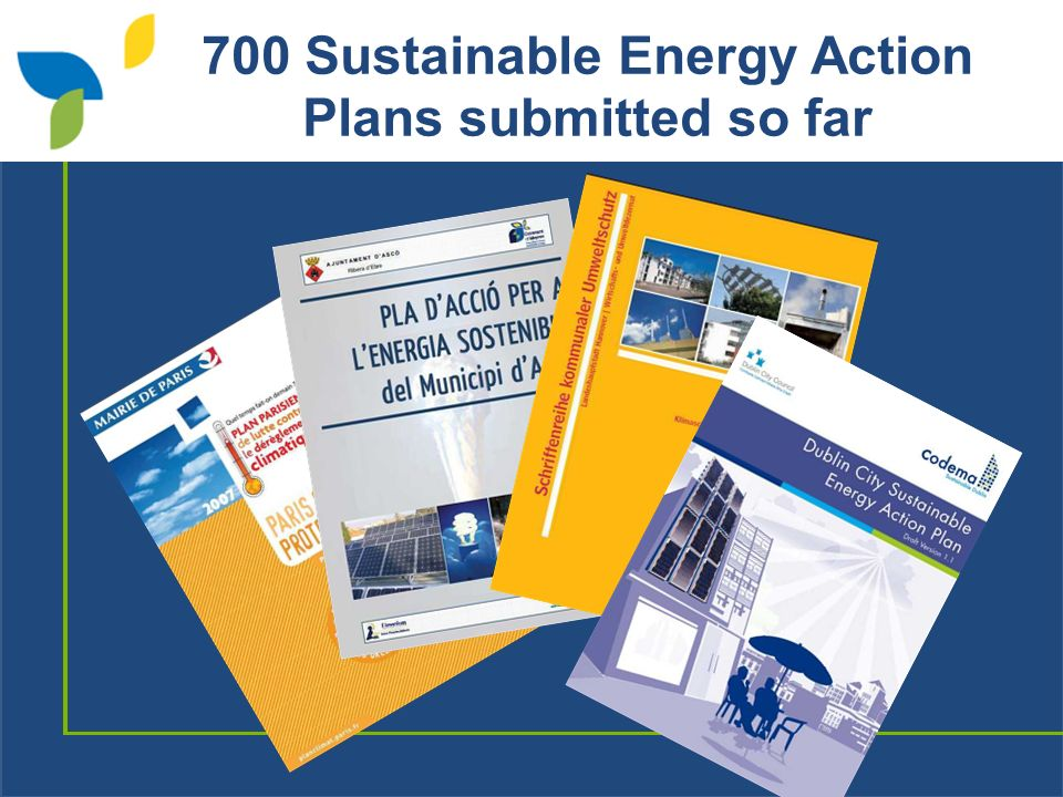 700 Sustainable Energy Action Plans submitted so far