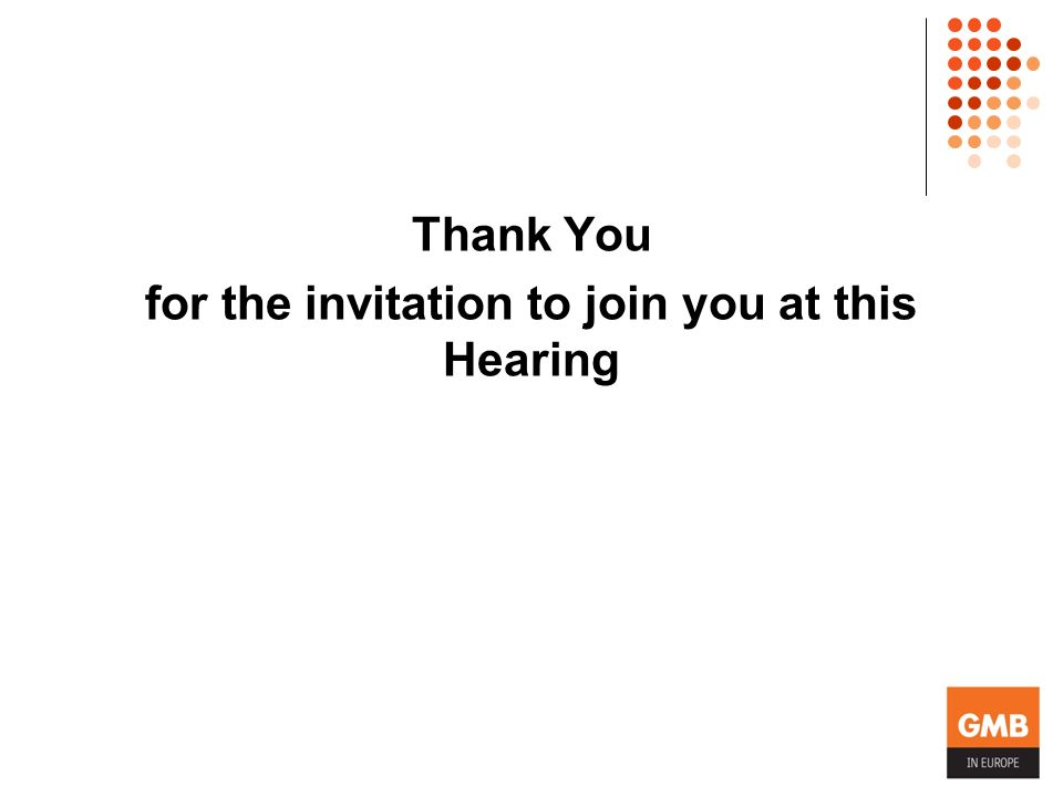 Thank You for the invitation to join you at this Hearing