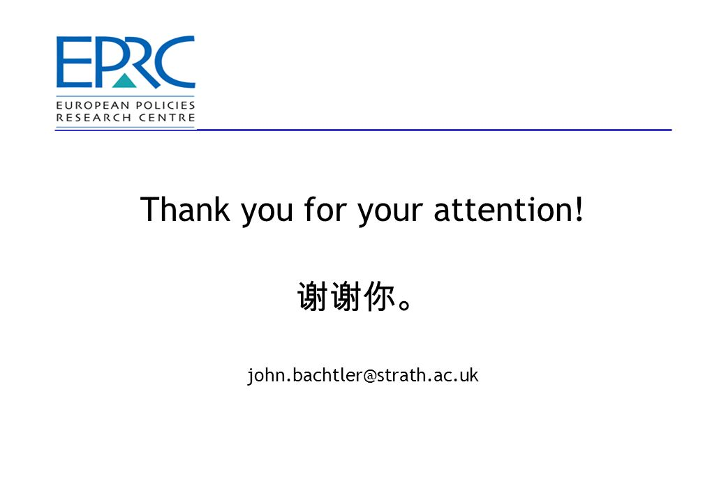 Thank you for your attention! john.bachtler@strath.ac.uk