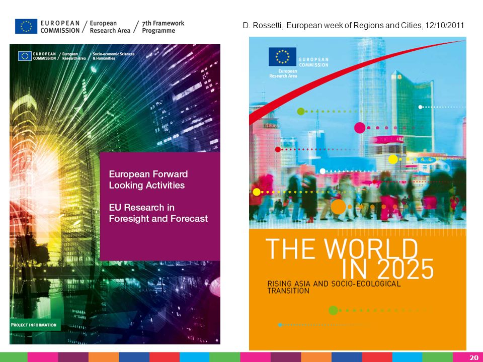 20 D. Rossetti, European week of Regions and Cities, 12/10/2011